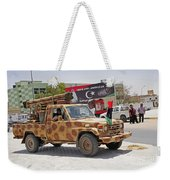 A Free Libyan Army Pickup Truck Weekender Tote Bag by Andrew Chittock