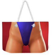 Sexy Young Woman In High Cut Swimsuit Weekender Tote Bag