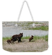 Black Bear Family Weekender Tote Bag
