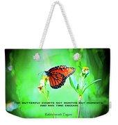14- The Butterfly Weekender Tote Bag