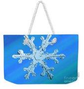 Snow Crystal Weekender Tote Bag