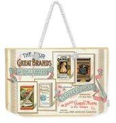 1889 W. Duke Sons Co Cigarettes Trading Card Weekender Tote Bag