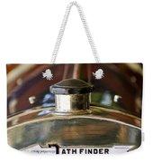 1913 Pathfinder 5-passenger Touring Hood Ornament Weekender Tote Bag