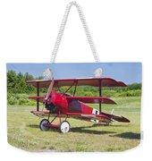 1917 Fokker Dr.1 Triplane Red Barron Canvas Photo Print Poster Weekender Tote Bag