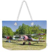 1917 Nieuport 28c.1 World War One Antique Fighter Biplane Canvas Poster Print Weekender Tote Bag