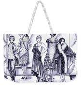 1920s British Fashions Weekender Tote Bag