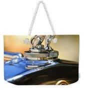 1929 Gardner Series 120 Eight-in-line Roadster Hood Ornament Weekender Tote Bag
