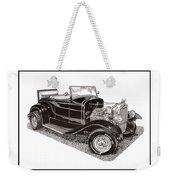 1930 Ford Model A Roadster Weekender Tote Bag