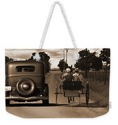 1934 Chevy And Today's Horse And Buggy By Randall Branham Weekender Tote Bag
