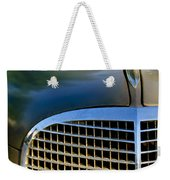 1937 Cadillac Hood Ornament And Grille Weekender Tote Bag