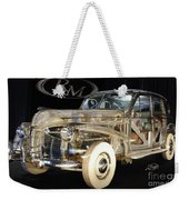 1940 Pontiac Transparent Weekender Tote Bag