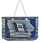 1946 Iowa Statehood Stamp Weekender Tote Bag