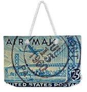 1946 Oakland Bay Bridge Air Mail Stamp Weekender Tote Bag