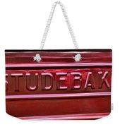 1947 Studebaker Tail Gate Cherry Red Weekender Tote Bag