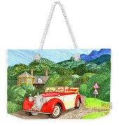 1948 Alvis English Countryside Weekender Tote Bag