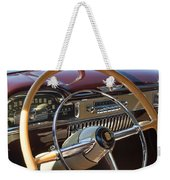 1949 Cadillac Sedanette Steering Wheel Weekender Tote Bag