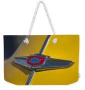 1949 Chevrolet Sedan Hood Emblem Weekender Tote Bag