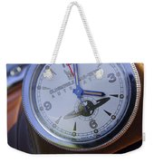 1950 Oldsmobile 88 Dashboard Clock Weekender Tote Bag