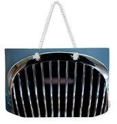 1952 Jaguar Hood Ornament And Grille Weekender Tote Bag