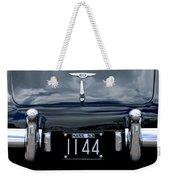 1953 Bentley Rear View License Plate Weekender Tote Bag