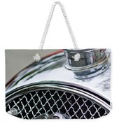 1953 Morgan Plus 4 Le Mans Tt Special Hood Ornament        Weekender Tote Bag