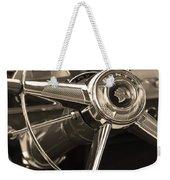 1953 Pontiac Steering Wheel - Sepia Weekender Tote Bag