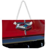 1954 Chevrolet Convertible Hood Emblem Weekender Tote Bag