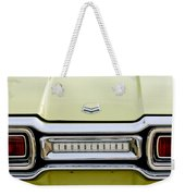 1954 Ford Thunderbird Taillight Emblem Weekender Tote Bag