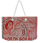 1954 North Borneo Stamp Weekender Tote Bag