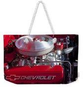 1955 Chevrolet 210 Engine Weekender Tote Bag