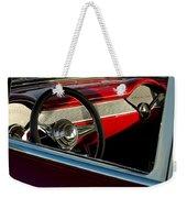 1955 Chevrolet 210 Steering Wheel Weekender Tote Bag