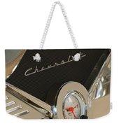 1955 Chevrolet Belair Clock Weekender Tote Bag