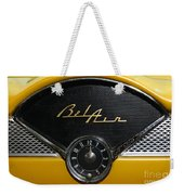 1955 Chevy Belair Clockface Weekender Tote Bag