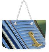 1955 Lincoln Capri Emblem Weekender Tote Bag