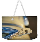1955 Pontiac Star Chief Hood Ornament  Weekender Tote Bag