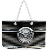 1956 Buick Century Grill Emblem Weekender Tote Bag