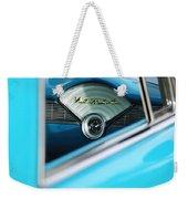 1956 Chevrolet Belair Nomad Dashboard Clock Weekender Tote Bag