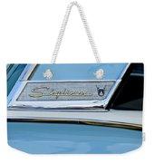 1956 Ford Fairlane Skyliner Emblem Weekender Tote Bag