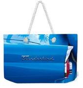 1956 Ford Thunderbird Taillight Emblem Weekender Tote Bag