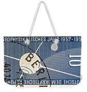 1957 - 1958 East German Sputnik Stamp Weekender Tote Bag