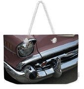 1957 Coral Chevy Bel Air Weekender Tote Bag