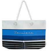 1957 Ford Fairlane Grille Emblem Weekender Tote Bag