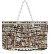 1958 Lincoln-douglas Debates Stamp Weekender Tote Bag