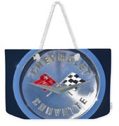 1959 Chevrolet Corvette Emblem Weekender Tote Bag
