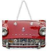 1960 Triumph Tr 3 Grille Emblems Weekender Tote Bag by Jill Reger
