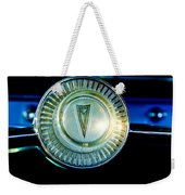 1961 Pontiac Catalina Steering Wheel Emblem Weekender Tote Bag