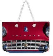 1961 Triumph Tr3a Roadster Grille Emblem Weekender Tote Bag