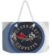 1962 Chevrolet Corvette Emblem 4 Weekender Tote Bag