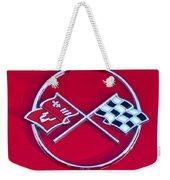 1962 Chevrolet Corvette Hood Emblem 2 Weekender Tote Bag