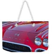1962 Chevrolet Corvette Hood Weekender Tote Bag